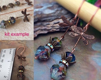 Do it Yourself Easy Dragonfly Earring Kit, U CAN DO IT Exclusive Earring Kit, Easy, Simple