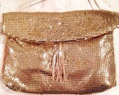 Vintage gold mesh Whiting & Davis purse evening bag