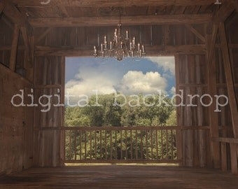 Instant Download DIGITAL BACKDROP for Photographers -Fancy Wedding Barn Digital Backdrop