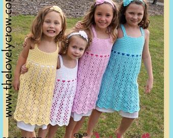 Girls Easter Dress Crochet Pattern BELLA LENA DRESS