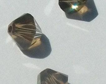Sale 6mm Swarovski Crystal Beads BICONE style 5328 crystal beads BRONZE SHADE -- 20 pieces