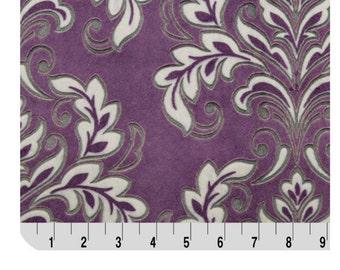 Shannon Fabrics Shannon Studios Mar Bella Prints Madrid Cuddle Classic Prints Violeta Purple Fabric