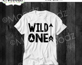 Wild One Toddler Kid Youth Baby Onesie Tee Tshirt with optional color choice