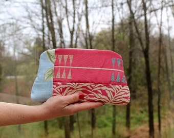 Scrap, Patch Zip Pouch with Hand strap, In the Pink