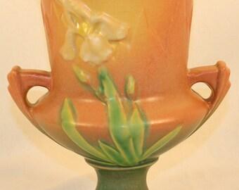 Roseville Pottery Iris Pink Vase 923-8