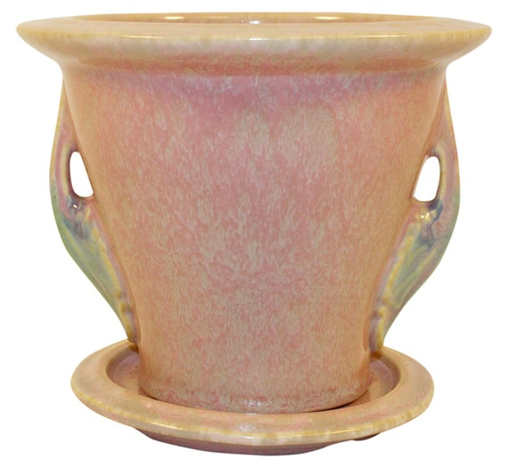 Roseville Pottery Tuscany Pink Flower Pot And By