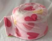 Fleece  Igloo House Fleece Cover  Hedgehog Pocket Pet Pink Hearts