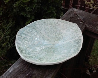 Pottery bowl Lace Texture Rustic