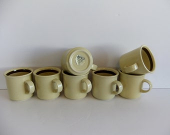 Mug Coffee Cup Vintage Apollo Stone Mug Japan Luna yellow and brown