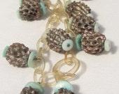 Pine Cone Like Retro Plastic Necklace, Looped Plastic Necklace, Jewelry Necklace, Childs Vintage Necklace, Mid Century Plastic Necklace