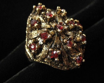 VOGUE Victorian Revival Domed Costume Ring, Adjustable