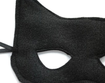 Black Felt Bat Mask Child Kids