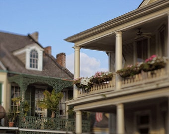 """New Orleans Art Photography, """"French Quarter Corner"""" Architecture Photograph.  Affordable Wall Art  Print. Mardi Gras."""