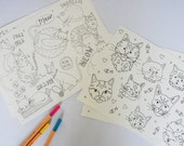 Cats Colouring Sheets