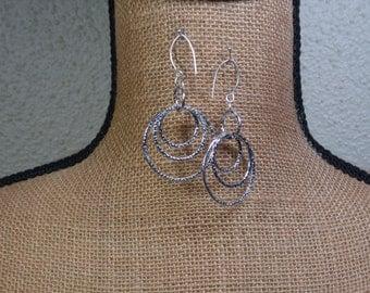 Sterling Silver Hammered Earrings