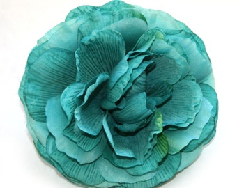 1 Jumbo Turquoise Ranunculus - Silk Flowers, Artificial Flowers, Flower Head
