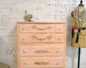 Painted Cottage Chic Shabby French Dresser/ Chest CH878