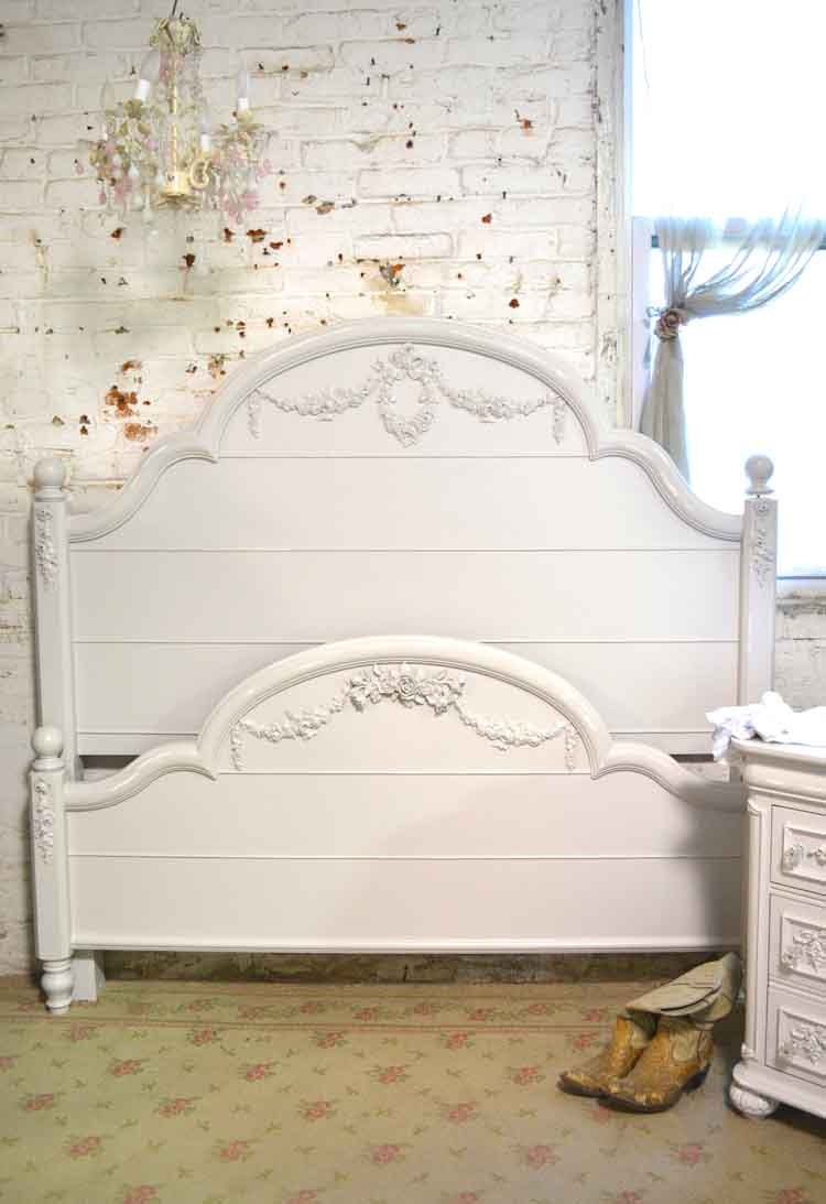 french bed painted cottage shabby chic romantic by paintedcottages. Black Bedroom Furniture Sets. Home Design Ideas