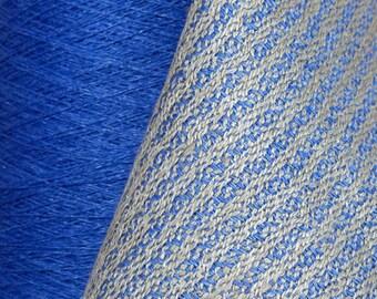 250 grams in 1 of 5 Beautiful COOL TONE Colors (Cornflower Blue, New Leaf, Slate, Violet, OR Snow) 16/2 Linen Yarn 8.8 oz, 1300 yards