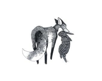 minimalist ink print: Carbon