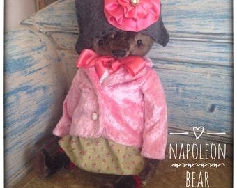 16 inch Artist Handmade OOAK Mohair Teddy Bear Napoleon by Sasha Pokrass
