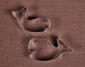 Whale Cookie Cutters Set, Little Whale Cookie Cutter, Metal Cookie Cutter, Biscuit Cutters, Whale Biscuit Cutter, Baby Shower Cutters