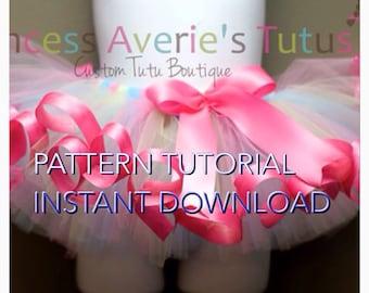 INSTANT DOWNLOAD TUTORIAL Pattern SeWn Tutu The Curly Q Traditional Sewn Tutu Pattern Tutorial