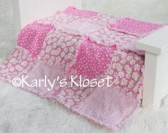 Baby Quilt, Newborn Prop, Pink Daisy Quilt, Newborn Rag Quilt, Baby Girl Props, Newborn Photography Props, Layering Blanket Prop