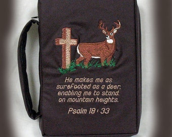 Custom Bible cover,  Bible book cover, personalized Bible cover, embroidered cover, for men