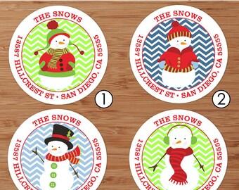 Chillin' Snowman - Custom Address Labels or Stickers