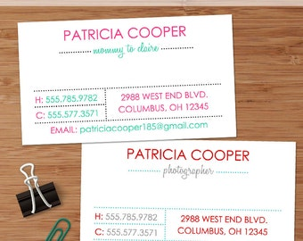 Simply Dotted, Clean & Modern - 50 Custom Business or Calling Cards