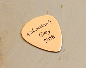 Valentine's Day 2016 Copper Guitar Pick for Rocking Out the Love - GP201
