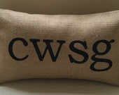 Welsh CWSG sleep burlap pillow cushion cover - Etsy Front Page item.