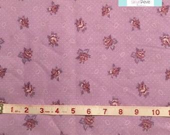 Purple Shabby Chic Floral, 1 yard