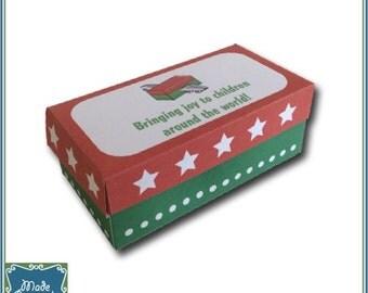 Digital Shoebox Packing Party Mini Shoebox