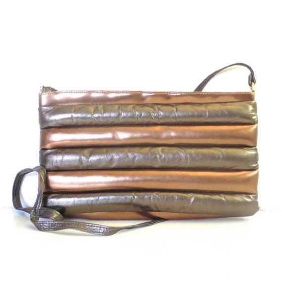 Vintage Metallic Puffy Leather Karen Purse