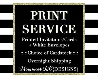 Print Services, Invitation Printing Service, Holiday Card Printing Service, Cardstock Prints, Invite Printing