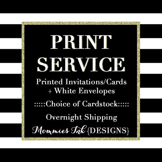 Print Services Invitation Printing Service Holiday Card