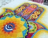 Hamas hand mandala original sand art