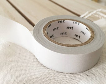 Solid PASTEL gray Washi Tape Japanese PASTEL gray masking tape tan  (312) - PrettyTape