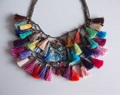 Five in One Rainbow Tassel Necklace