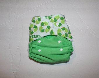 Recycle OS pocket diaper Made to order- Cloth diaper- recycle- reduce- reuse-green- eco friendly- natural