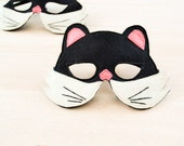 Black Cat Kid Animal Mask Children Carnival Mask Dress up Costume Accessory, Boys, Girls, Toddlers Felt Pretend Play Toy