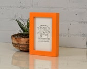 4x6 Picture Frame in Deep Flat Style with Solid Orange Finish - IN STOCK - Same Day Shipping - Handmade 4x6 Photo Frame Orange