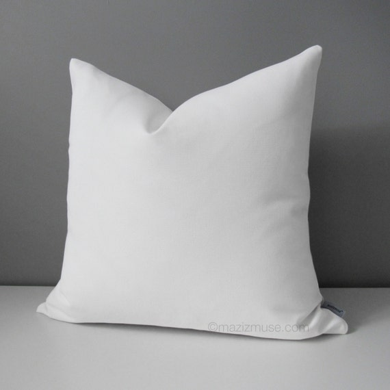 modern white outdoor pillow cover decorative throw pillow. Black Bedroom Furniture Sets. Home Design Ideas