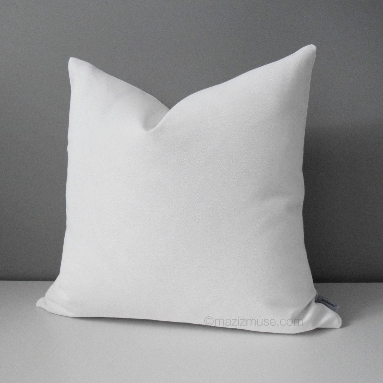 Modern White Outdoor Pillow Cover Decorative Throw Pillow