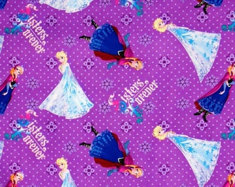 FOR foxy1025a 10 yards Frozen Sisters Cotton Woven Fabric BTY