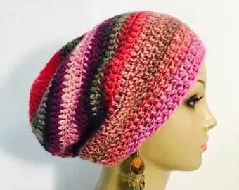Pink Multi Crochet Tam