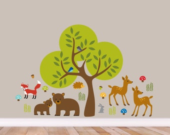 Woodland Forest - Nursery Kid's Room Printed Wall Decal