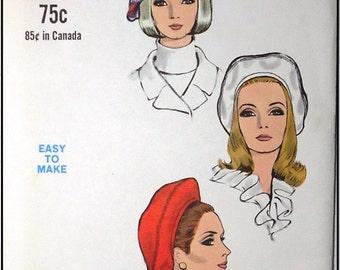 Vogue 7385 - 1960s Vintage Beret Hat Pattern - Factory Folded - Size 22-1/2